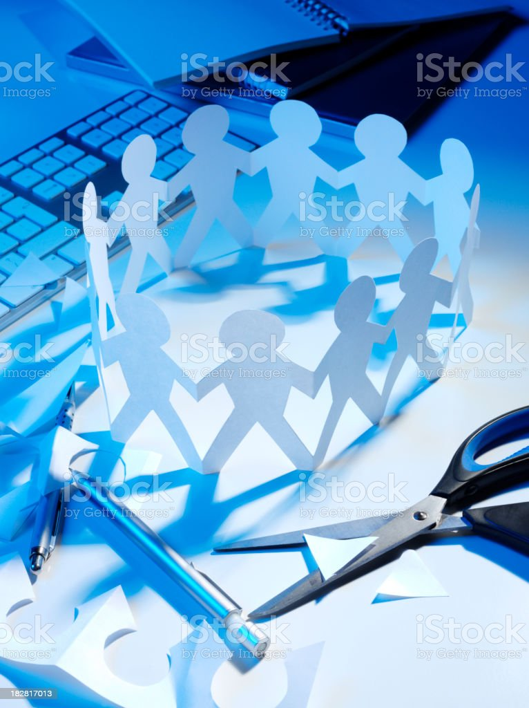 Working Together with Teamwork royalty-free stock photo