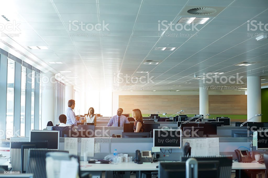 Working towards a common goal stock photo