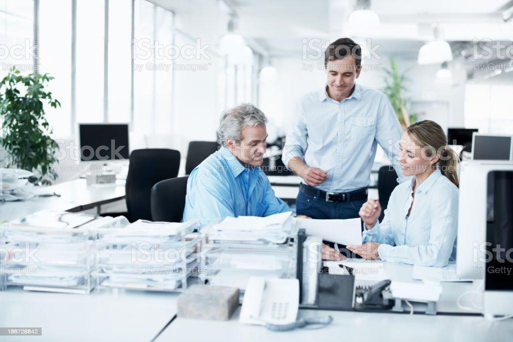 Working towards even greater successes royalty-free stock photo