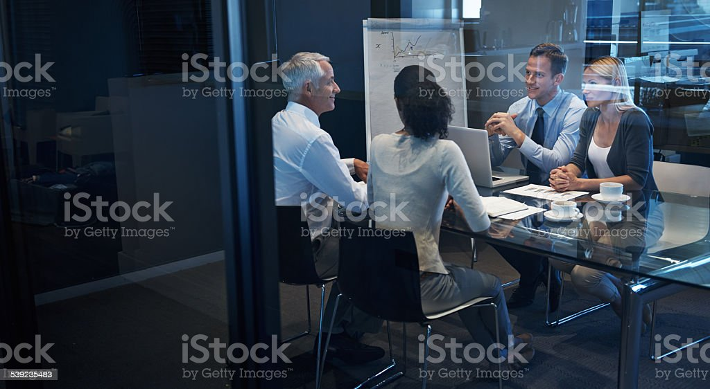 Working towards the same goal royalty-free stock photo