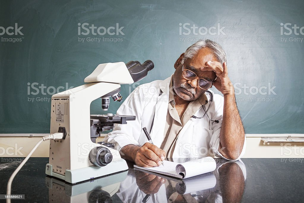 working University Professor stock photo