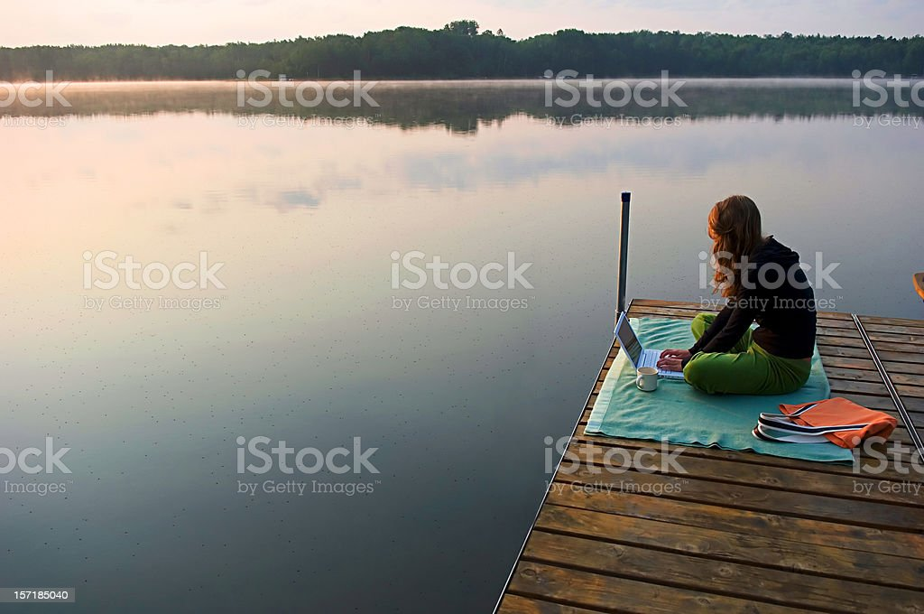 working vacation, #2 royalty-free stock photo