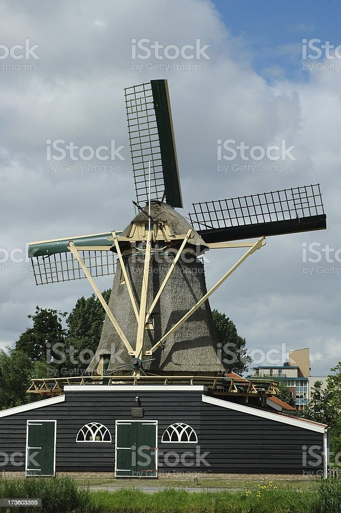 Working windmill royalty-free stock photo