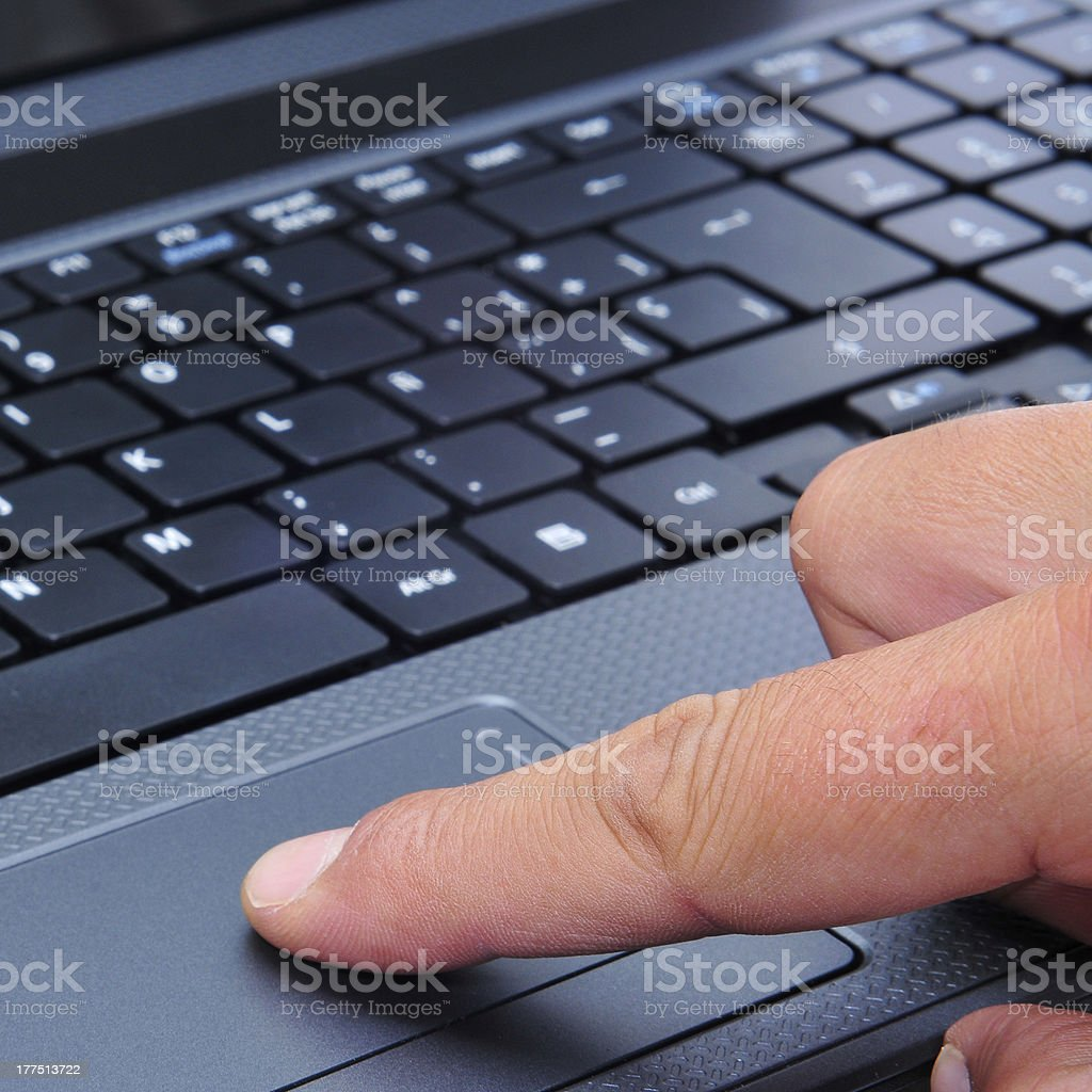 working with a laptop royalty-free stock photo