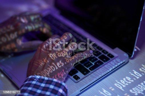 1098316816 istock photo Working with data 1098316772