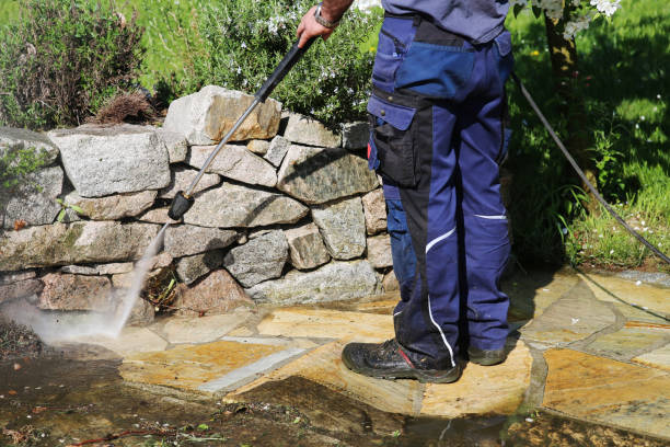 working with high-pressure cleaner - high pressure cleaning stock photos and pictures