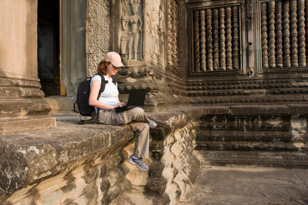 Working with laptop at the angkor wat picture id1127102264?b=1&k=6&m=1127102264&s=612x612&w=0&h=2tyvdeotkheivn9gilxh6mwxpcwgeymx n2vztd3kp4=