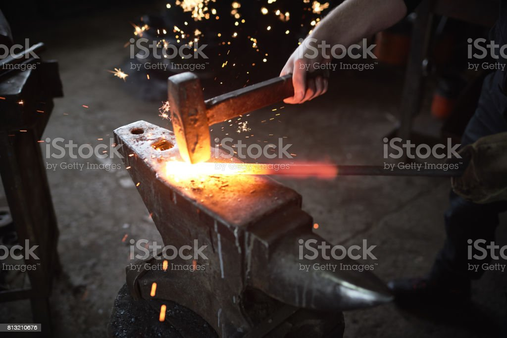 Working with metal stock photo