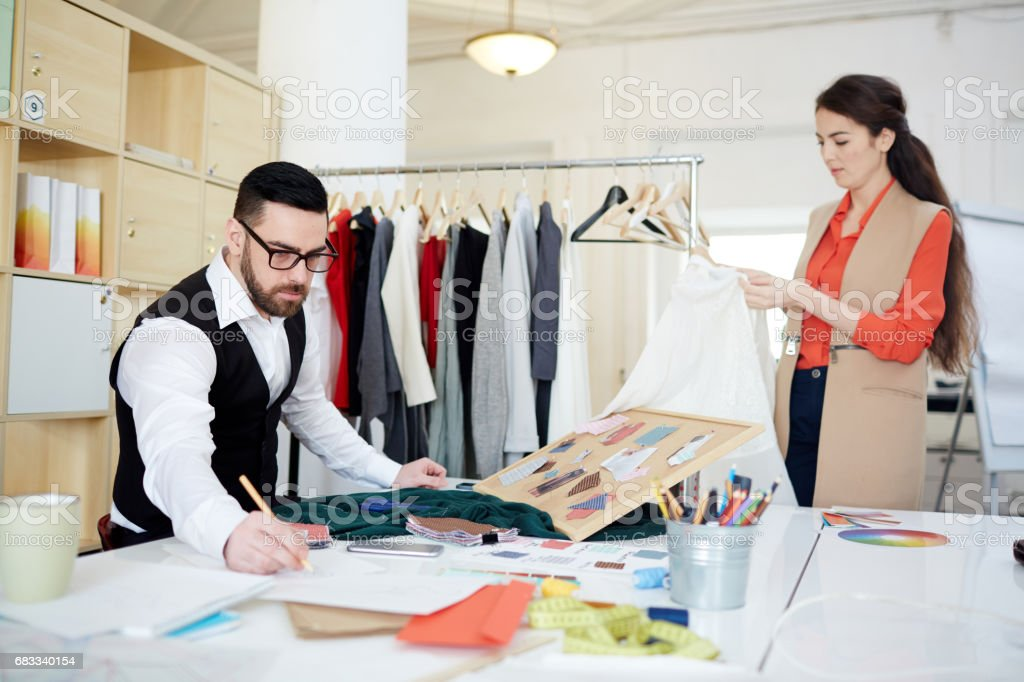 Working with samples stock photo