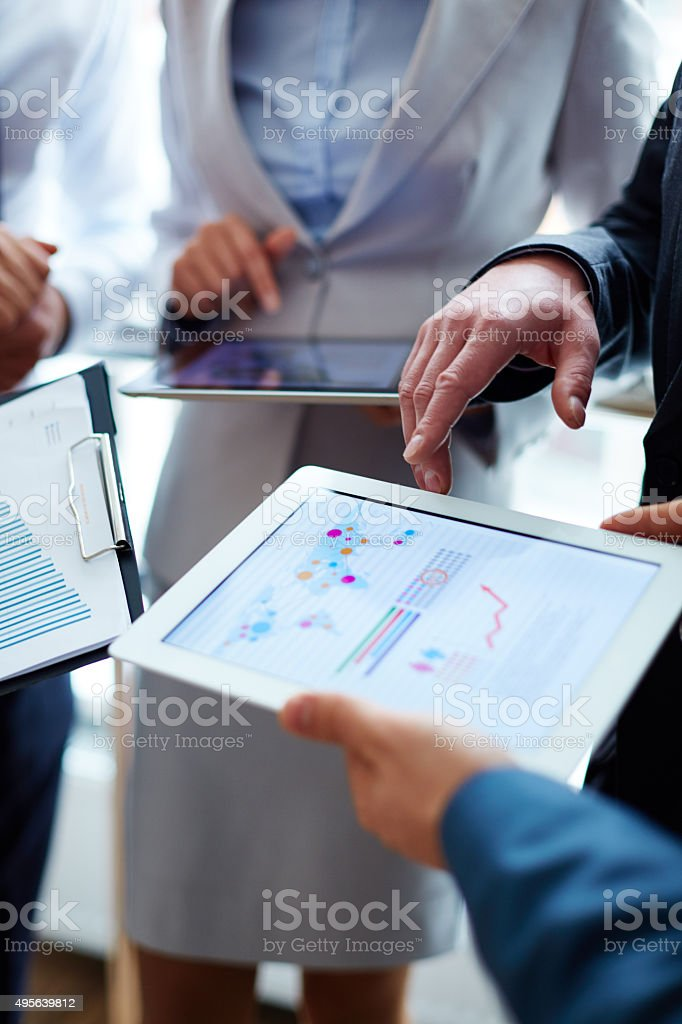 Working with statistical data stock photo