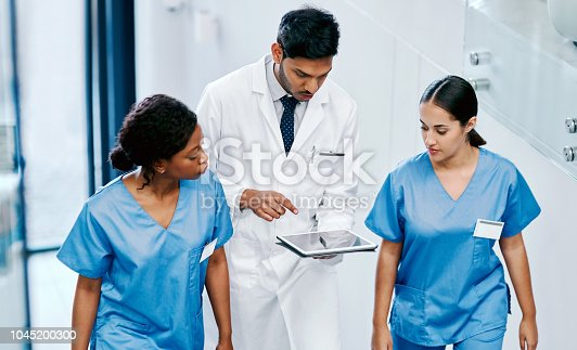 istock Working with technology to better their quality of healthcare 1045200300
