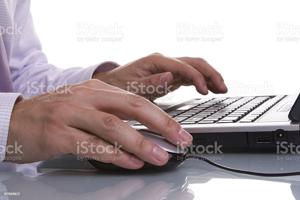 working with the laptop royalty-free stock photo