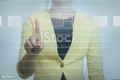 184640907 istock photo Working with touch screen 657233474