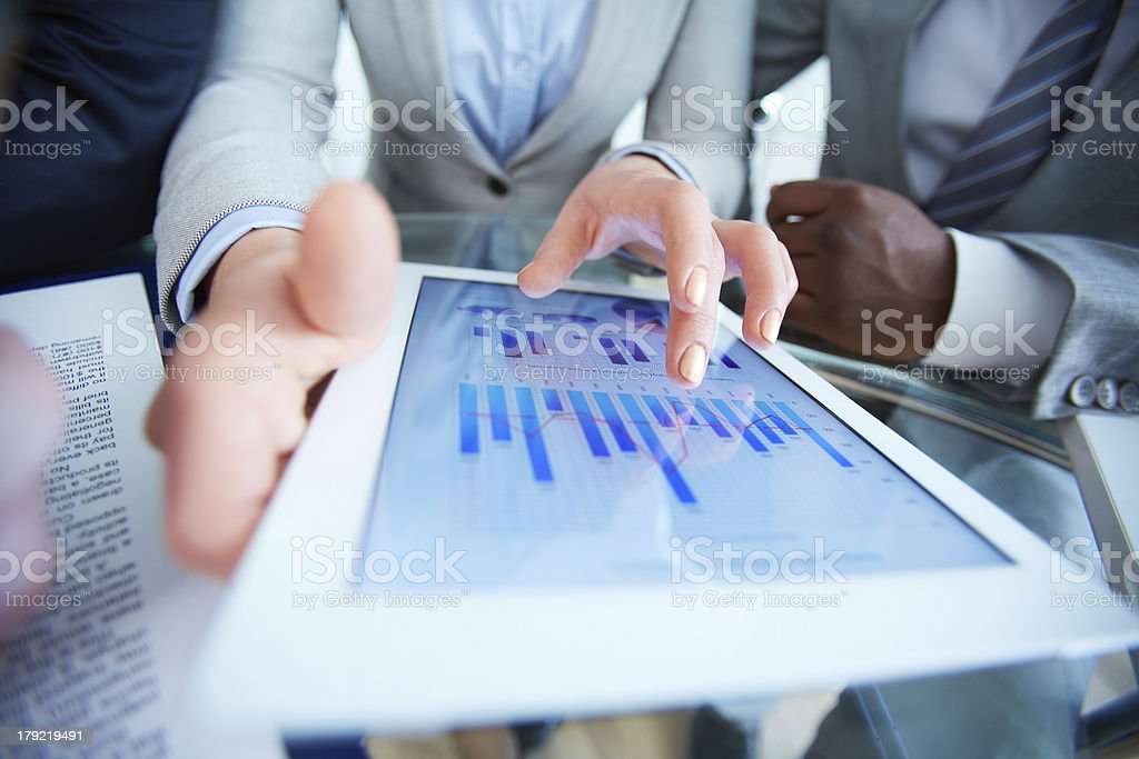 Working with touchpad royalty-free stock photo