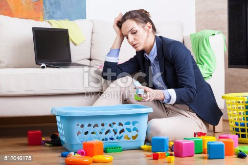 istock Working woman after long day 512046175