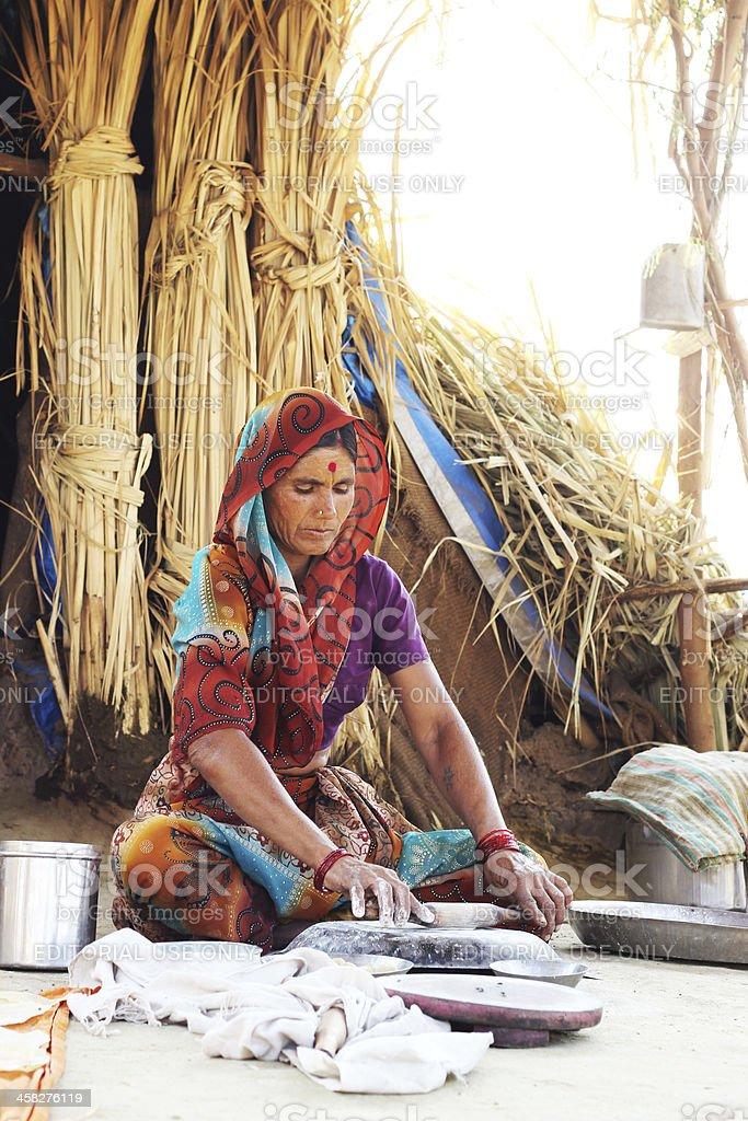 Working woman of rural Maharashtra. royalty-free stock photo