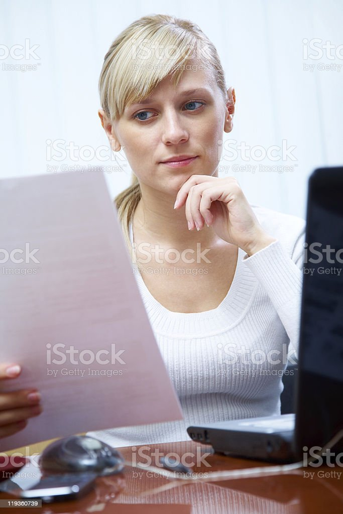working women in office royalty-free stock photo