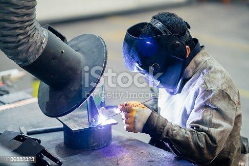 Working worker portrait