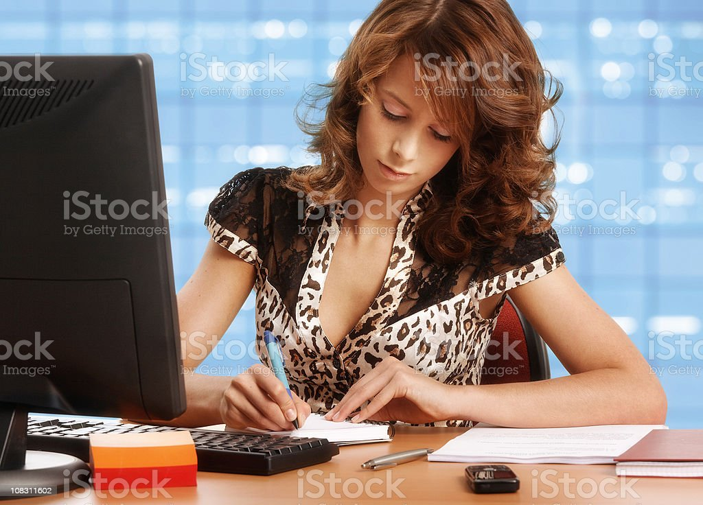 working young office worker royalty-free stock photo