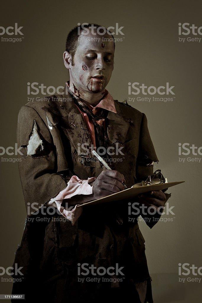 working zombie royalty-free stock photo