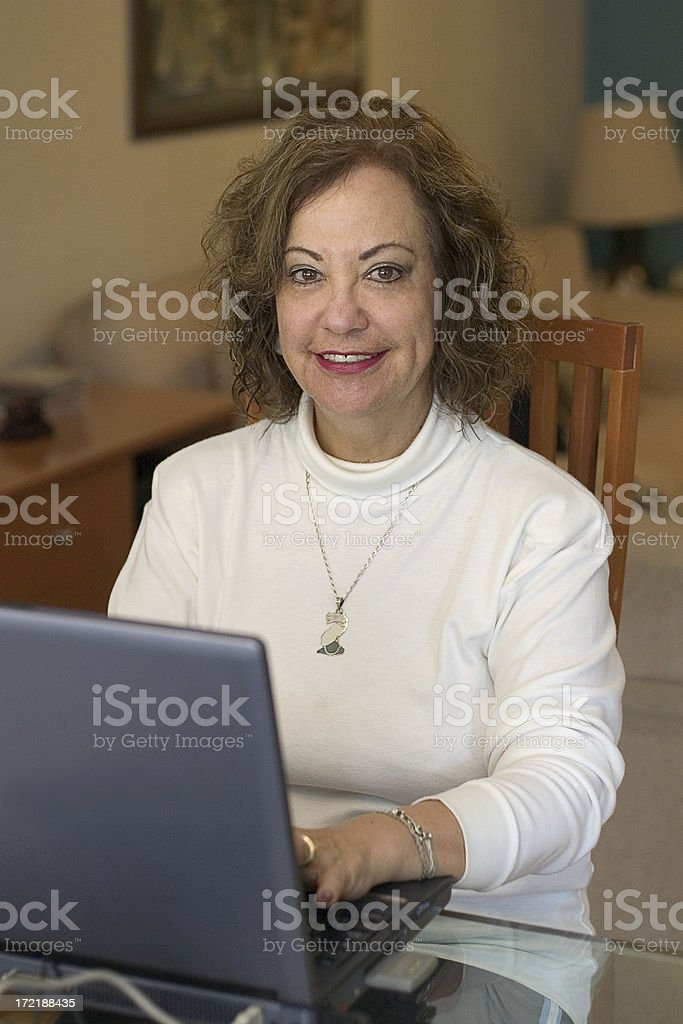 working/learning from home stock photo
