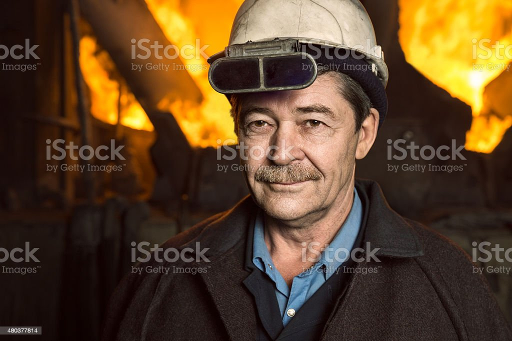 Working-Metallurgist stock photo