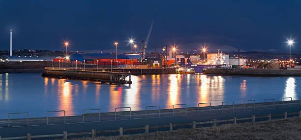 Workington Harbour stock photo