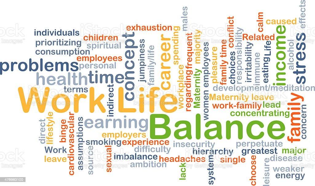 Work-life balance background concept stock photo