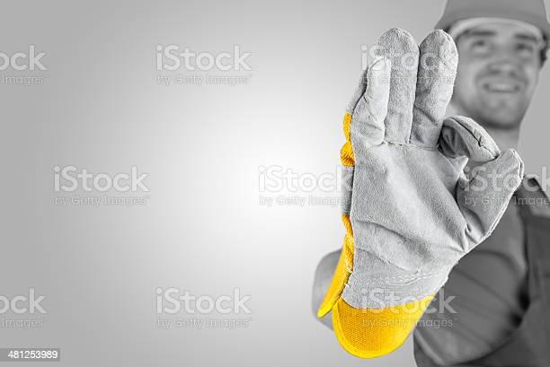 Workman Eine Perfekte Geste Stockfoto und mehr Bilder von Abmachung