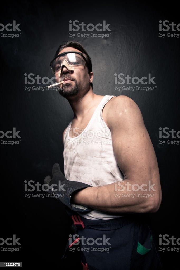 Workman royalty-free stock photo