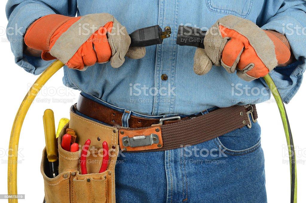 Travailleur brancher Extension Pantalon en velours côtelé - Photo de Adulte libre de droits