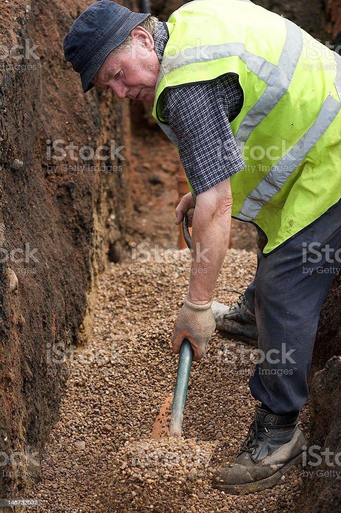 Workmen on site stock photo