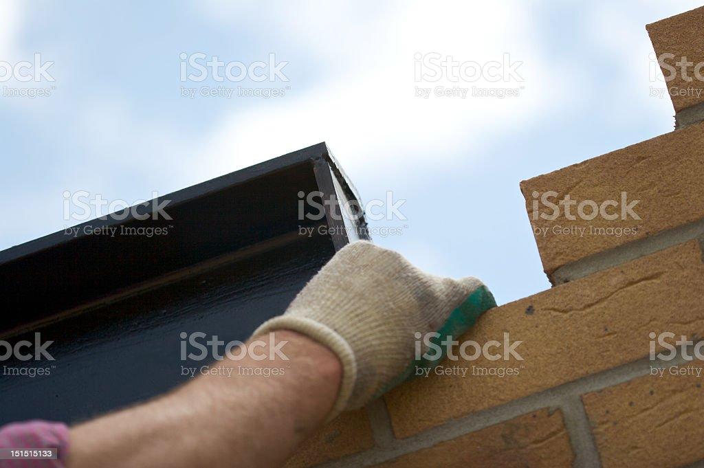 Workmen on site royalty-free stock photo
