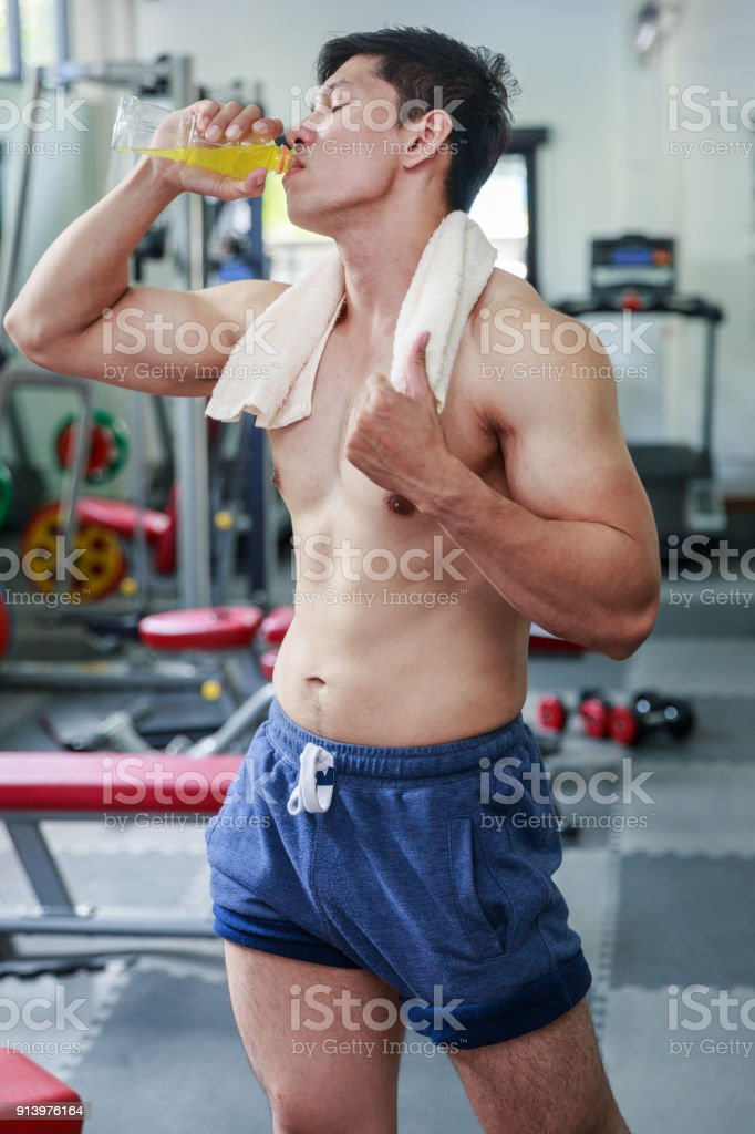 WorkOut And Drink stock photo
