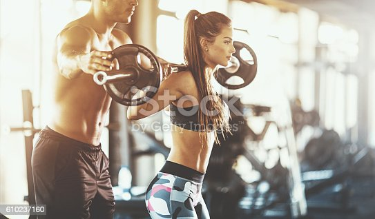 610237160 istock photo Workout assistance. 610237160