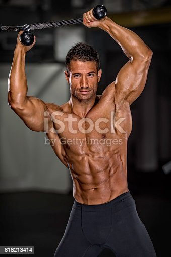 618209684istockphoto Workout at the Gym 618213414