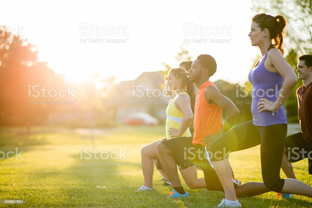 Workout Class stock photo