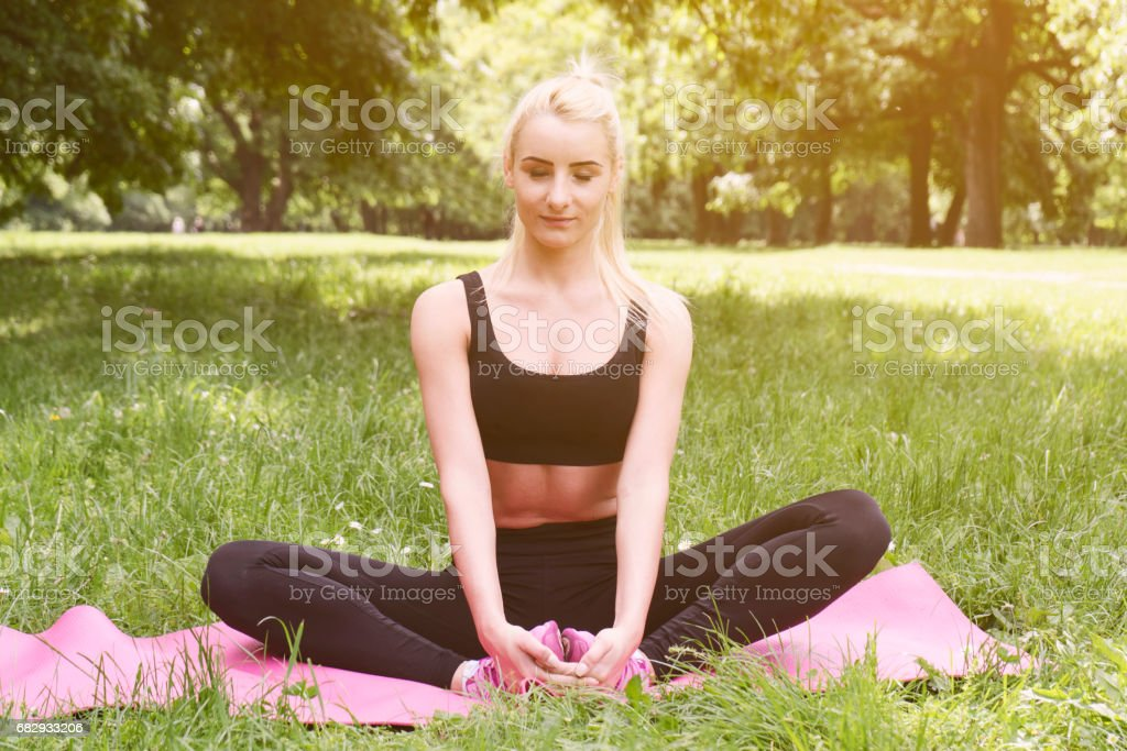 Workout in the park royalty-free stock photo