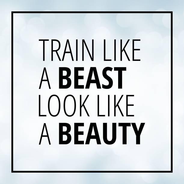 training-motivation-zitat auf weißen bokeh hintergrund - bedeutungsvolle zitate stock-fotos und bilder