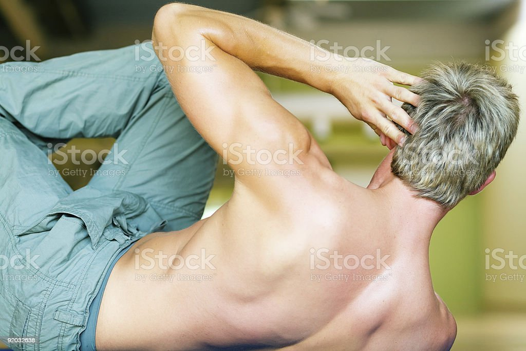 Workout - situps royalty-free stock photo