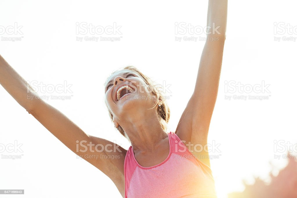 Workout success woman stock photo