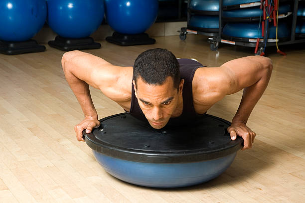 Workout with Balance Trainer Ball - 6 stock photo