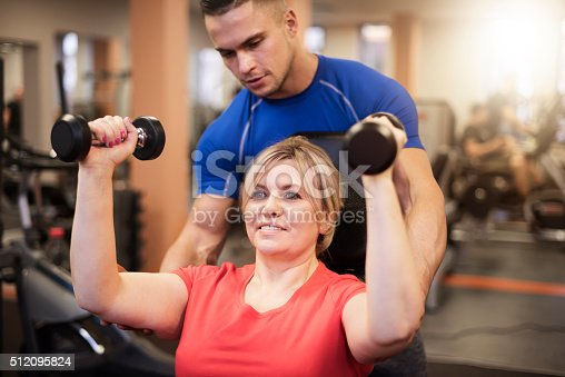 istock Workout with personal trainer 512095824