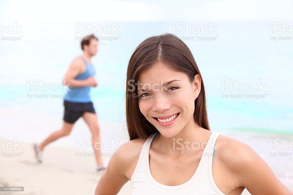 Workout woman portrait royalty-free stock photo