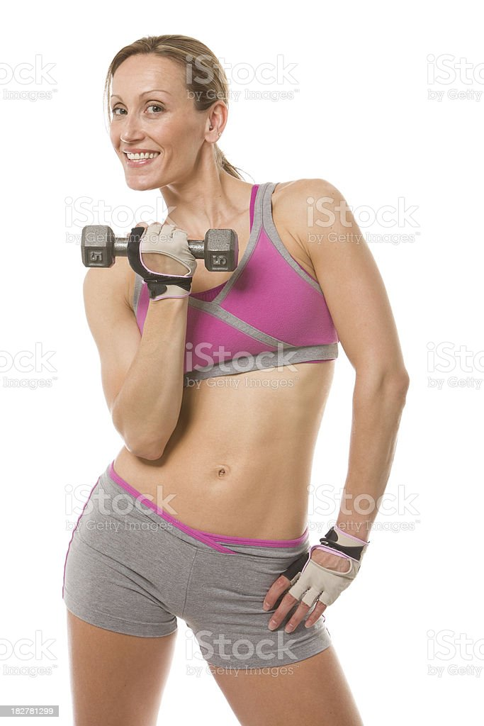 Workout Woman with Dumbbell royalty-free stock photo