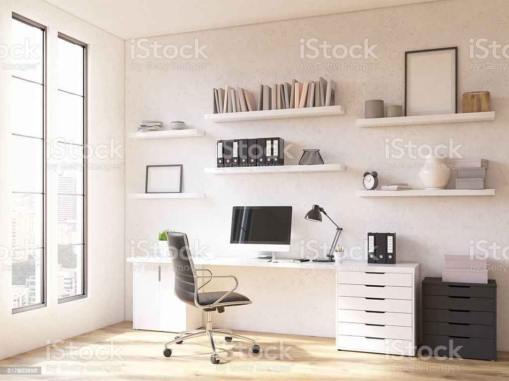 Workplace at home stock photo