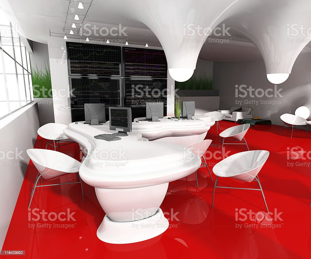 Workplace at modern office royalty-free stock photo