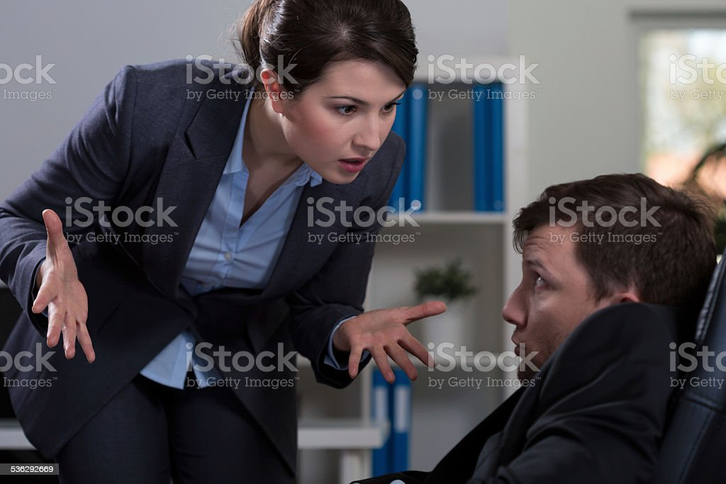 Workplace bullying stock photo