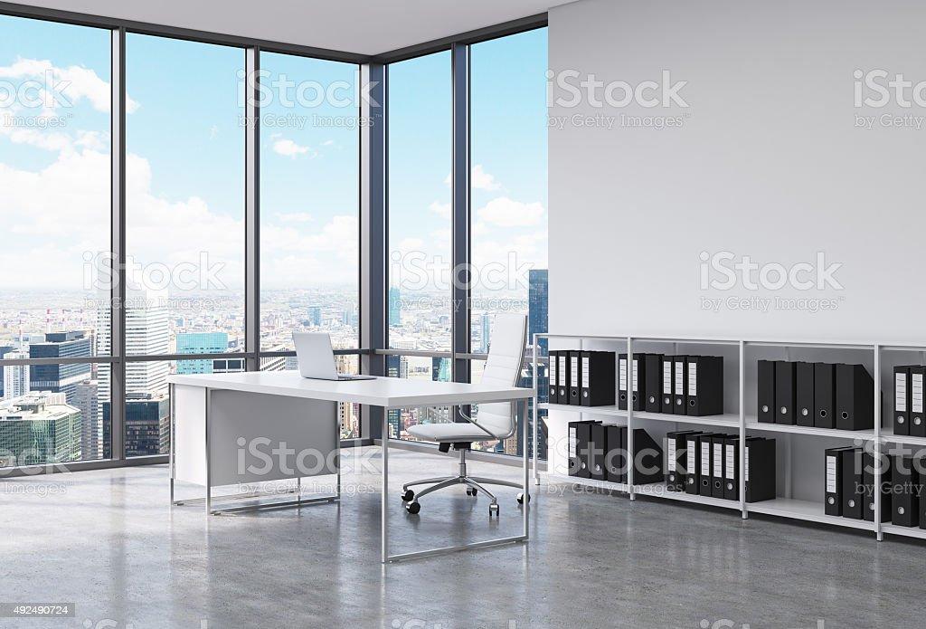 Pdg lieu de travail dans un bureau moderne dans la ville de new