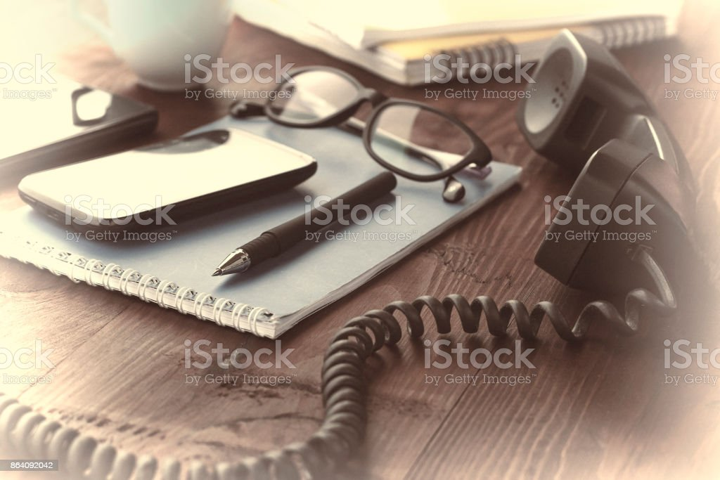 Workplace in office. Layout. royalty-free stock photo